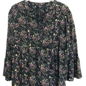 Lucky Brand women's boho, floral top Size Small